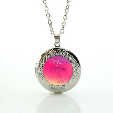 Love Mum Locket Pendant Charm Mother's Day/ Birthday Gift With Love Quotes,,[tags] - DeliteShopping