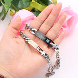 High Quality Personalized Gifts Couple Bracelets  With Crystal Stone,,[tags] - DeliteShopping