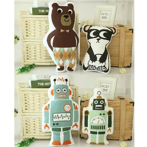 Panda Bear Robot Cushion Pillow Stuffed Toy Baby Kids Boys Room Decorators,Home Decorators,[tags] - DeliteShopping
