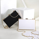 Modern Acrylic Transparent Clutch Bag Mini Messenger Evening Bag,,[tags] - DeliteShopping
