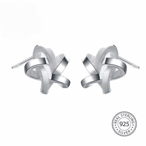 Trendy Sterling Silver Star Earrings Stud Fine Jewelry,Earrings,[tags] - DeliteShopping