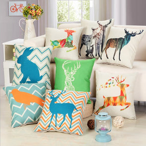 Nordic Deer Pillow Home Decor Cushion Cover,Home Decorators,[tags] - DeliteShopping