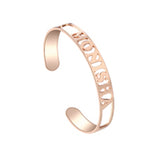 Personalized Hollow Name Bangle ID Bracelet For Women,,[tags] - DeliteShopping