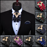 Handmade High Quality Striped Bow Tie For Men Groom,,[tags] - DeliteShopping