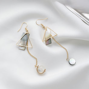 Simple Delicate Asymmetric Geometry Drop Earrings,,[tags] - DeliteShopping