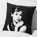 Marilyn Monroe Audrey Hepburn Velvet Sofa Cushion Cover,Home Decorators,[tags] - DeliteShopping