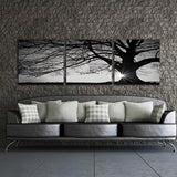 (3pcs/set) Modern Tree Sunset Canvas Art Print Wall Art Home Decor Frameless,Home Decorators,[tags] - DeliteShopping