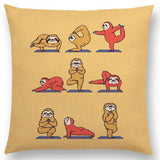 Funny Animals Yoga Series Cushion Cover Sofa Pillow Case,,[tags] - DeliteShopping