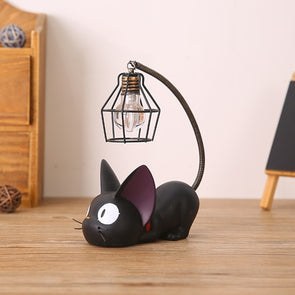 Miniature Black Cat Night Light Resin Decoration,Home Decorators,[tags] - DeliteShopping