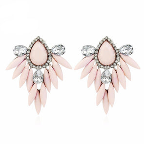 Beautiful Bohemian Pale Pink Flower Design Drop Earrings,,[tags] - DeliteShopping
