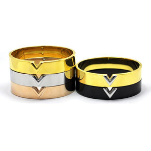 """V"" Design Classic Triangle Bold Bangles Bracelets Gift For Men Women Unisex,,[tags] - DeliteShopping"