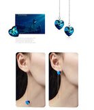 Adjustable Blue Heart Shape Beautiful Dangle Earrings,,[tags] - DeliteShopping