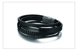 Genuine Leather Personalized Multi-Layer Bangle Gift for Men,,[tags] - DeliteShopping