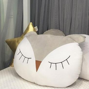 Owl Cartoon Cushion Pillow Stuffed Toy Kids Room Decor,Home Decorators,[tags] - DeliteShopping