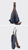 (2 in 1) Men's Stylish Cross Body Anti-Theft Chest Bag & Wallet,,[tags] - DeliteShopping