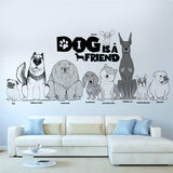 Dog Is A Friend Wall Sticker Cute Dogs Wall Decorator,Home Decorators,[tags] - DeliteShopping