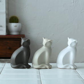 Modern Abstract Ceramic Cat Ornaments,Home Decorators,[tags] - DeliteShopping