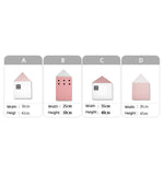 4pcs Baby Little House Bed Bumper For Baby Kids,Home Decorators,[tags] - DeliteShopping