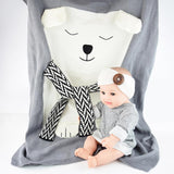 Handmade Knitted Animal Kids Baby Soft Blanket 120*75cm,Home Decorators,[tags] - DeliteShopping
