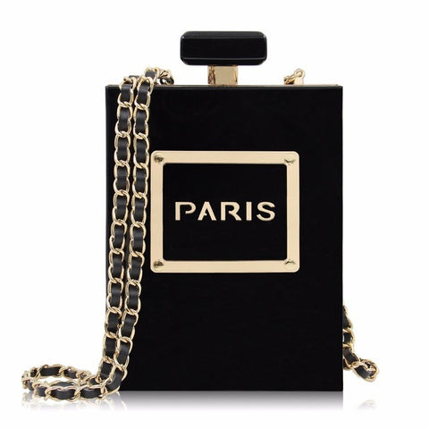 Solid Acrylic Perfume Bottle Women Chain Clutch Bags,,[tags] - DeliteShopping