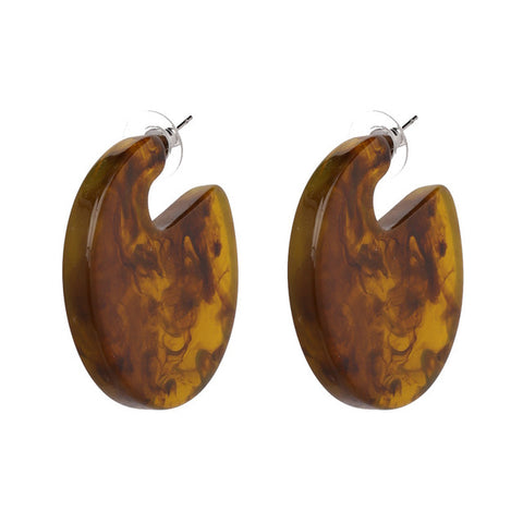 Vintage Brown Boho Acrylic Bid Stud Earrings,,[tags] - DeliteShopping