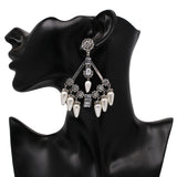 2018 Vintage Boho Style Beautiful Crystal Chandelier Big Earrings For Women,,[tags] - DeliteShopping