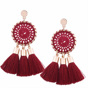 Beautiful Ethnic Boho Large Tassel Earrings For Women,,[tags] - DeliteShopping