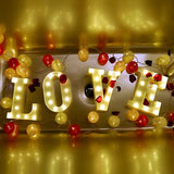 Luminous LED Letter Warm Night Light For Room Wedding Party Decoration,Home Decorators,[tags] - DeliteShopping