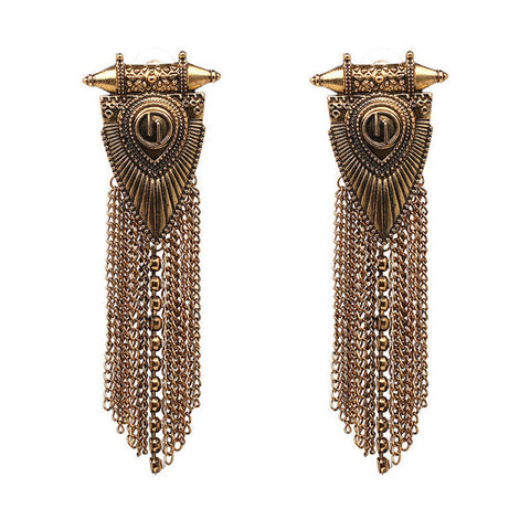 Vintage Long Metal Tassel Bohemian Dangle Earrings For Women,,[tags] - DeliteShopping
