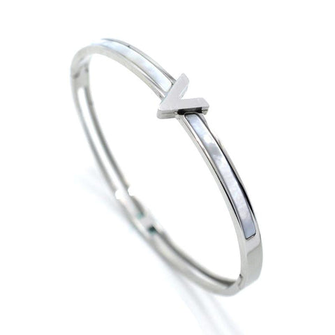 """V"" Design Classic Triangle Shell Bangle Bracelets For Men Women Unisex,,[tags] - DeliteShopping"