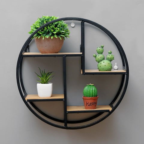 Retro Wooden Round Storage Racks Modern Decor,Home Decorators,[tags] - DeliteShopping