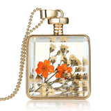 Beautiful Dried Flowers Glass Pendant Necklace (6 styles),,[tags] - DeliteShopping