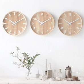 Wood Nordic Style Simple Wall Clock Home Decor,Home Decorators,[tags] - DeliteShopping