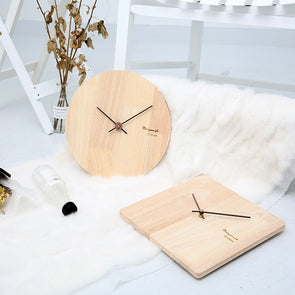 Nordic Simple Round/Square Wood Clock,Home Decorators,[tags] - DeliteShopping