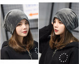4 Seasons Simple Knitted Hats For Women Ear Flaps Cap With Velvet,,[tags] - DeliteShopping