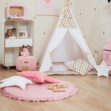 Simple Round Cotton Padded Baby Play Mats Crawling Rug For Baby Kids Nursery Room,,[tags] - DeliteShopping