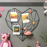 Modern Style Heart Metal Grid Wall Decor Photo Shelf,Home Decorators,[tags] - DeliteShopping