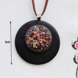 Handmade Big Circle Vintage Stone Long Choker Necklace For Women,,[tags] - DeliteShopping
