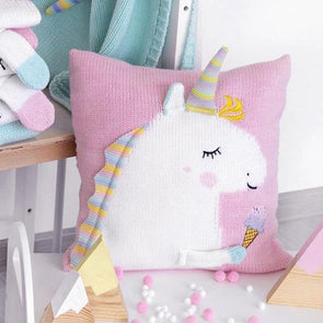 Handmade Unicorn Knit 3D Pastel Cushion Pillow For Baby Kids,Home Decorators,[tags] - DeliteShopping
