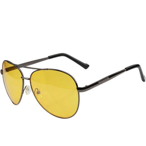 Driving Night Vision Yellow Classic Safety Glasses For Men,,[tags] - DeliteShopping