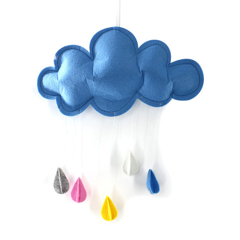Baby Nursery Kids Room Decoration Handmade Simple Raining Clouds,,[tags] - DeliteShopping