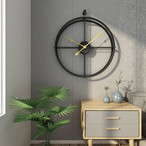 Modern Minimalism Hollow Metal Large Silent Wall Clock (55cm),Home Decorators,[tags] - DeliteShopping