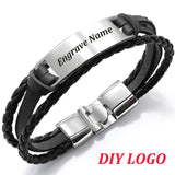 Multi-Layers Vintage ID Bangle Bracelet For Men,,[tags] - DeliteShopping