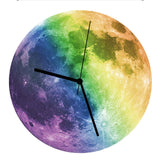 Glow In The Dark Luminous Moon Wall Clock,Home Decorators,[tags] - DeliteShopping