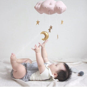 Cloud And Star Baby Rattles Hanging Decorators for Baby Kids Nursery Room 30cm*20cm,,[tags] - DeliteShopping