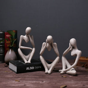 Abstract Human Thinking Statue Nordic Modern Home Decoration,Home Decorators,[tags] - DeliteShopping