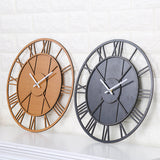 Wooden Stylish Modern Roman Numbers Hollow Wall Clock,Home Decorators,[tags] - DeliteShopping