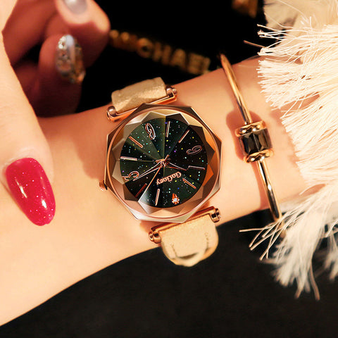Fashion Leather Classic Quartz Wristwatch For Women,,[tags] - DeliteShopping