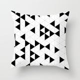 Black & White Geometric Minimalism Cushion Cover,Home Decorators,[tags] - DeliteShopping