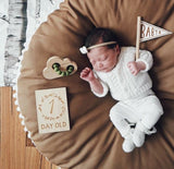 90CM Comfy Thick Round Cushion Play May Crawling Rug in Kids Baby Room,,[tags] - DeliteShopping